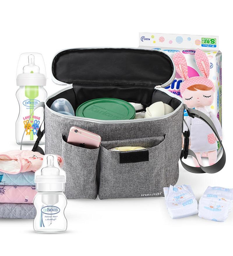 Tragbare Milchflaschen Thermotasche Isolierbeutel Babyflaschen Zubeh/ör Milchflasche Isolierung Taschen H/ängen zur Kinderwagen A Babyflasche Tasche
