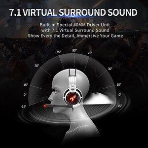 Image 4 - Somic G941 gamingowy zestaw słuchawkowy 7.1 wirtualny dźwięk przestrzenny słuchawki z mikrofonem słuchawki Stereo wibracje na komputer stancjonarny Laptop