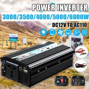 Car Inverter 3000/3500/4000/5000/6000W DC12V to AC110V Pe ak Car Power Inverter Voltage Transformer Converter Solar Inversor