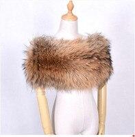 Women Fox Fur Shawl Winter Warming Shoulder Scarves Elastic Natural Fur Stole Elegant Luxury Female Fur Shawls For Wedding Party