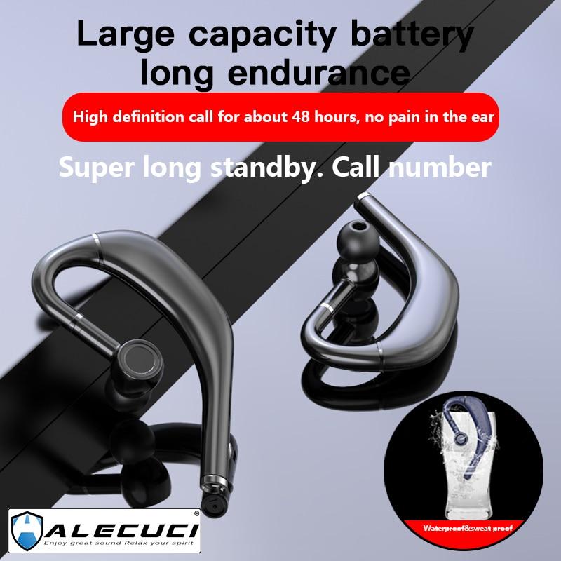 Alecuci RD09 Bluetooth гарнитура Шум шумоподавления Беспроводной наушники Hands-Free наушники для вождения Бизнес офис с микрофоном