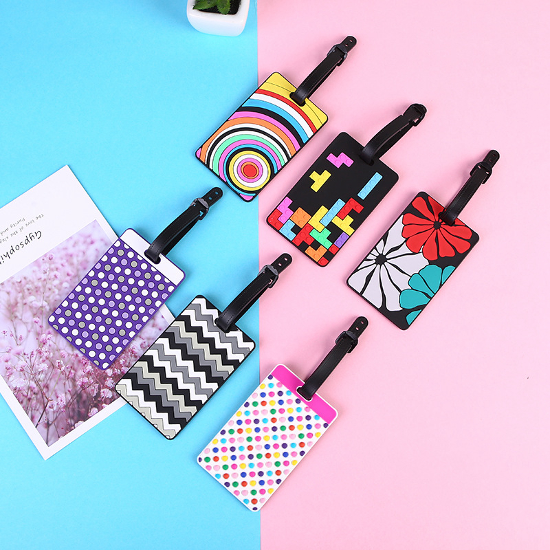 Creative Wave Point Luggage Tags Suitcase Holder ID Women Silica Gel Baggage Boarding Label Address Portable Travel Accessories