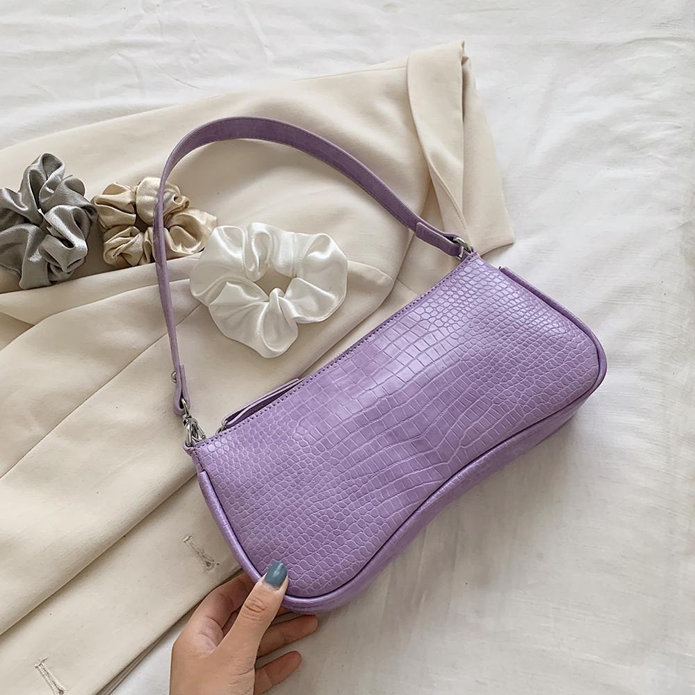 Women Messenger Bag Retro Serpentine Bag Imitation Crocodile Shoulder Female Handbags Purses Totes Saddle Bag Leather Baguettes