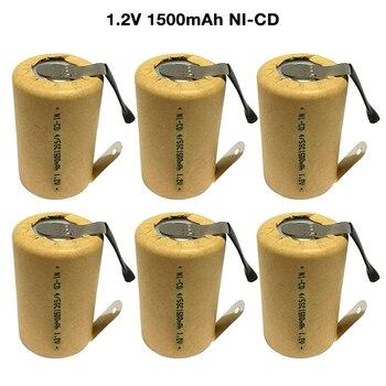 6-15 sztuk 4/5SC SubC 1.2V 1500mAh SC ni-cd akumulator z zakładkami spawania dla elektronarzędzi bateria zabawki elektryczne