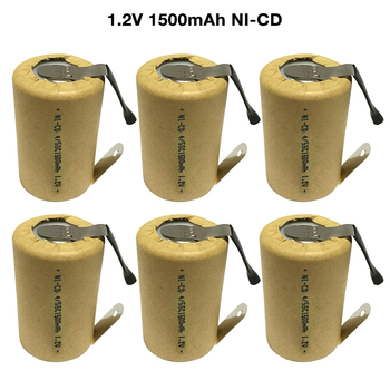 6-15pcs 4/5SC SubC 1.2V 1500mAh SC Ni-CD Rechargeable Battery Cell with Welding Tabs for Power Tools Battery Electric Toys
