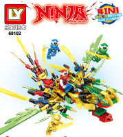 Kids Toys Ninjago 2020 Ninja Dragon Blocks 4in1 Gold Saints Model Building Blocks Kit Classic Bricks Education Toys for Children 4