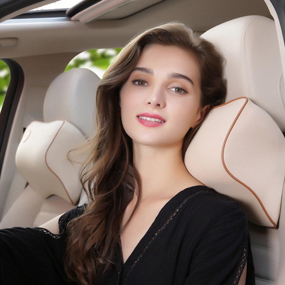 27*22 cm siège de voiture tête cou repos coussin soutien oreiller espace mémoire coton siège arrière soutien appuie-tête coussin Auto sécurité oreiller