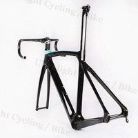 5d guidão luz disco-freio de carbono-quadro de estrada bicicleta de ciclismo bb386 preto ud inner-cable fosco