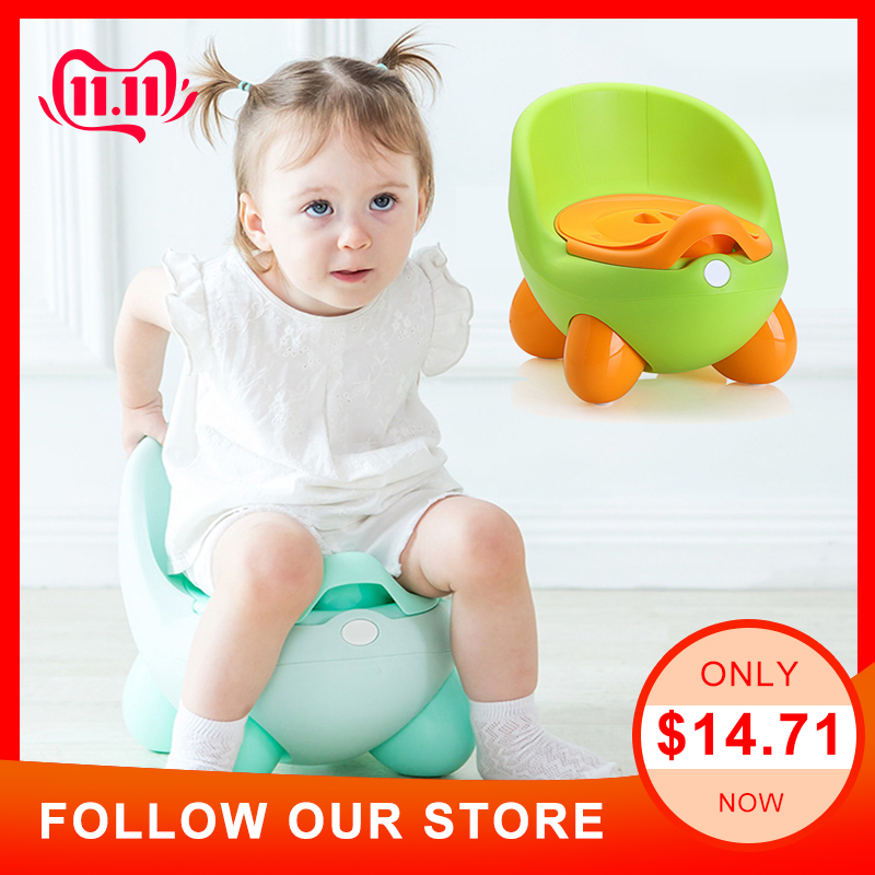 Baby Potty Toilet Seat Bowl Portable Training Pan Children's Pot Kids Bedpan Comfortable Backrest Toilet Girls Boys Cartoon Pots