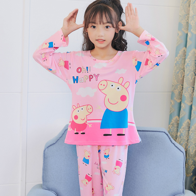Autumn CHILDREN'S Garment Long Sleeve Qmilch Pajamas Big Boy 6-7-8-9-Year-Old 10 Cute Young STUDENT'S Home Wear