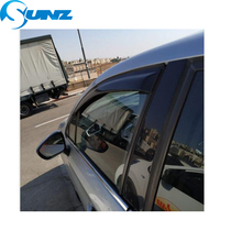 For CITROEN C4 2013-2014 Black Window Visor Deflectors Rain Guards For CITROEN C4 2013 2014 Window Deflectors SUNZ защита абсорбера citroen peugeot d000000104 для citroen c4 седан 2013 2016