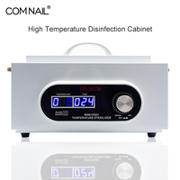 Sterilizer Disinfection Nail Art Tools Sanitizing Box High Temperature Anti virus Double LCD Display Manicure Salon Dry Heat