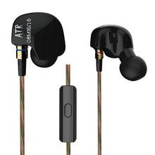Auriculares deportivos HiFi estereo con controlador de cobre KZ ATR, auriculares internos de 3,5mm para correr, con microfono,