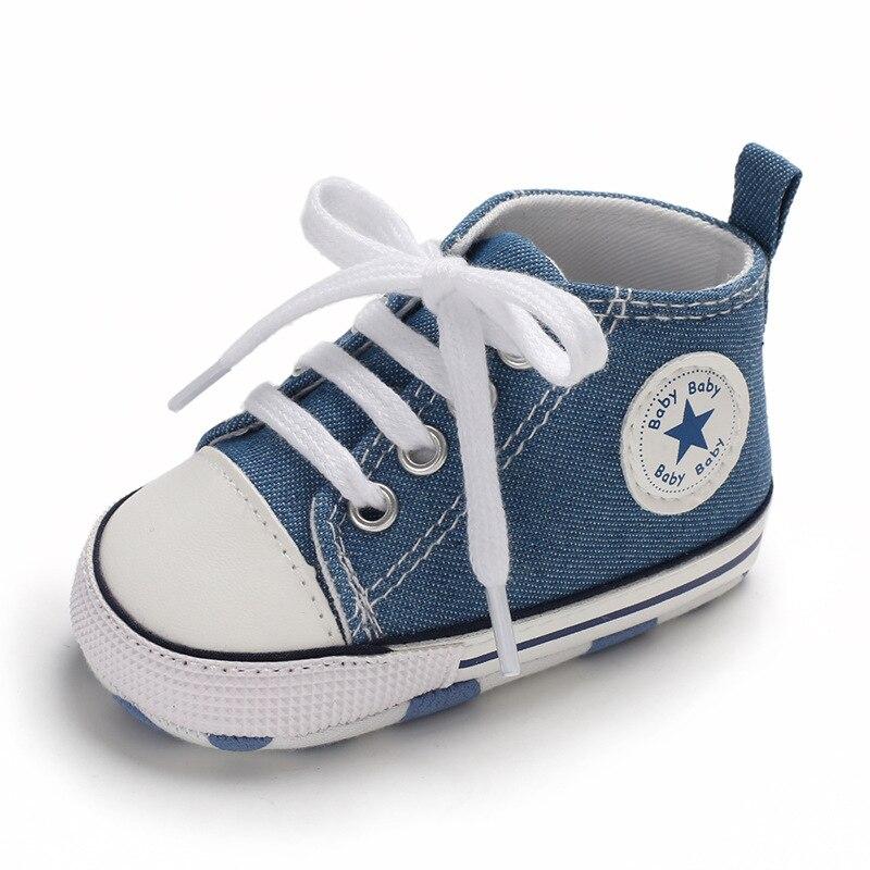 Chaussures bébé Garçon Fille Solide Sneaker Coton Doux Semelle Antidérapante Nouveau-Né Infantile Premiers Marcheurs Bambin décontracté Sport Chaussures de Berceau 23