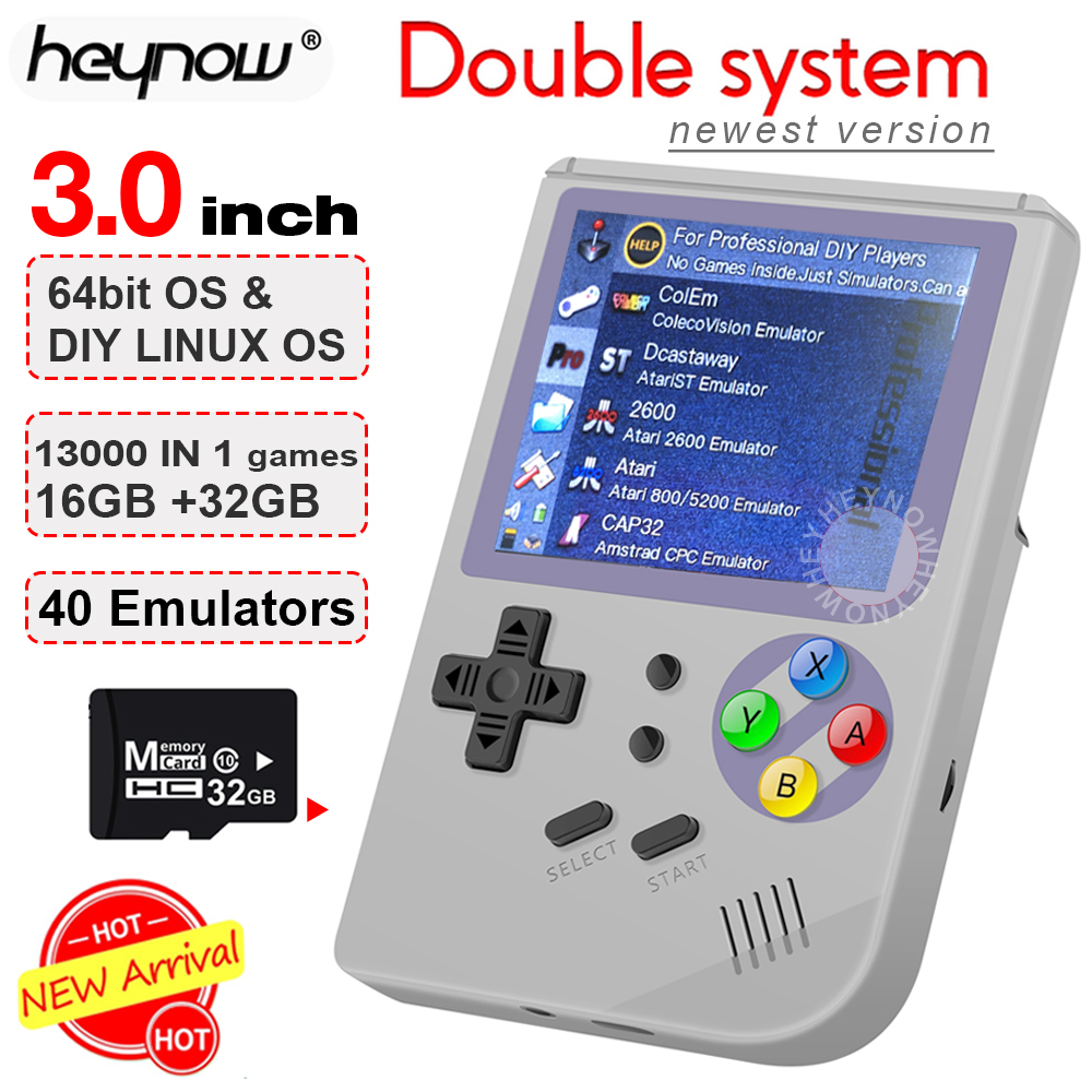 NEW Linux retro video game console 3inch 16GB Portable Handheld Game Console Player RG 300 32GB