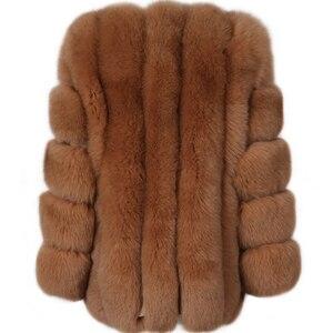 Image 3 - Futro damskie płaszcz z prawdziwego futra futro naturalne