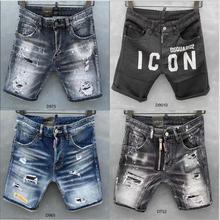 classic women/men New men's jeans shorts  biker shorts