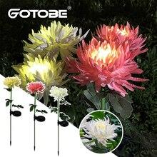 Солнечный светильник в виде хризантемы открытый сад моделирования цветочный травяной свет IP65 Водонепроницаемый садовый напольный светиль...