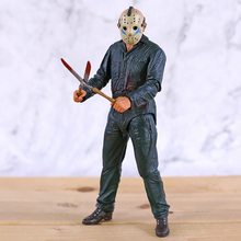 NECA Friday the 13th Jason Ultimate Part 5 Roy Burns Action Figure Horror Halloween Toy Doll Gift