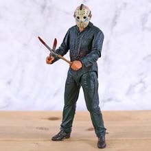 NECA piątek 13th Jason Ultimate Part 5 Roy oparzenia figurka Horror zabawka na halloween lalki prezent