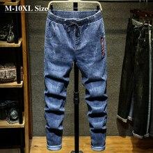 Мужские джинсы, размеры 7XL, 8XL, 9XL, 10XL