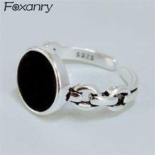Foxanry-bagues de mariage créatives pour femmes, fiançailles, pour Couples, bijoux nouvelle mode, accessoires cadeau, en argent Sterling 925