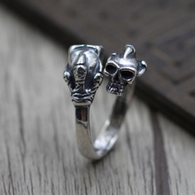 Silver 925 Ring High Quality Trendy Personality Punk Jewelry Retro Sculpture Open Frame Men and Women Size 16 Weight 7.5G