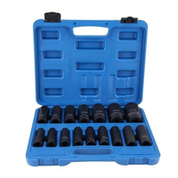 16Pcs 1/2 Inch Drive Air Hex Bit Socket Set Pneumatic Socket Kit Repairing Tool Kit Hand Tools