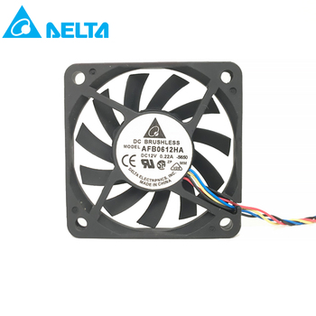 for delta AFB0612HA DC 12V 0.22A Cooling Fan For Server Square Fan 60x60x10mm 3-wire dc brushless 6cm cooler new for avc 6cm 6025 double ball 4 wire fan ds06025b12l 12v 0 30a server cooling fan