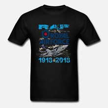 Raf T-shirt Of Sweater Royal Air Force T-shirt 1918-2018 Raf Eeuwfeest Tshirt Nieuwigheid Mens T-shirts Voor Mannen 3D gedrukt Korte(China)