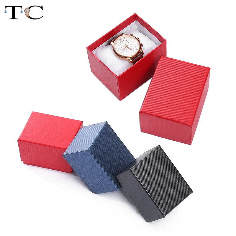Watch Box Jewellry Store Accessories Watches Storage Box Jewelry Gift Wrap Packaging Boxes Bracelet Showcase3 Colors