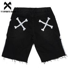 11 BYBB'S DARK Hip Hop Cargo Shorts Men 2021 Summer Streetwear Bone Print Tactical Function Short Pants Jogger Black Loose Short