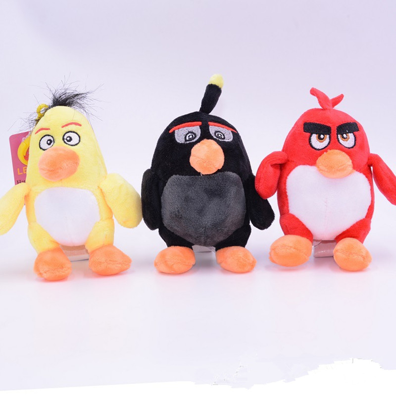 One Piece 12cm Popular Movie Game The Birds With Angry Plush Toys Cute Kawaii Animal Stuffed Plush Toys Dolls Child Gift