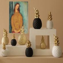 北欧パイナップル飾りクラフトクリエイティブテーブルデスクトップの装飾黄金の果実形状樹脂装飾家の装飾アクセサリー