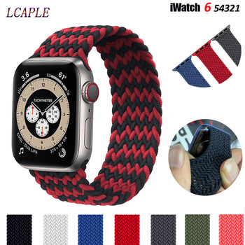 milanese loop strap for apple watch 4 5 band 44mm 40mm iwatch 3 2 band apple watch 42mm 38mm correa pulseira watch accessories Nylon Braided Solo Loop Strap For Apple Watch Band 44mm 40mm iwatch series 6 se 5 4 3 Elastic Correa Apple Watch 42mm 38mm Band