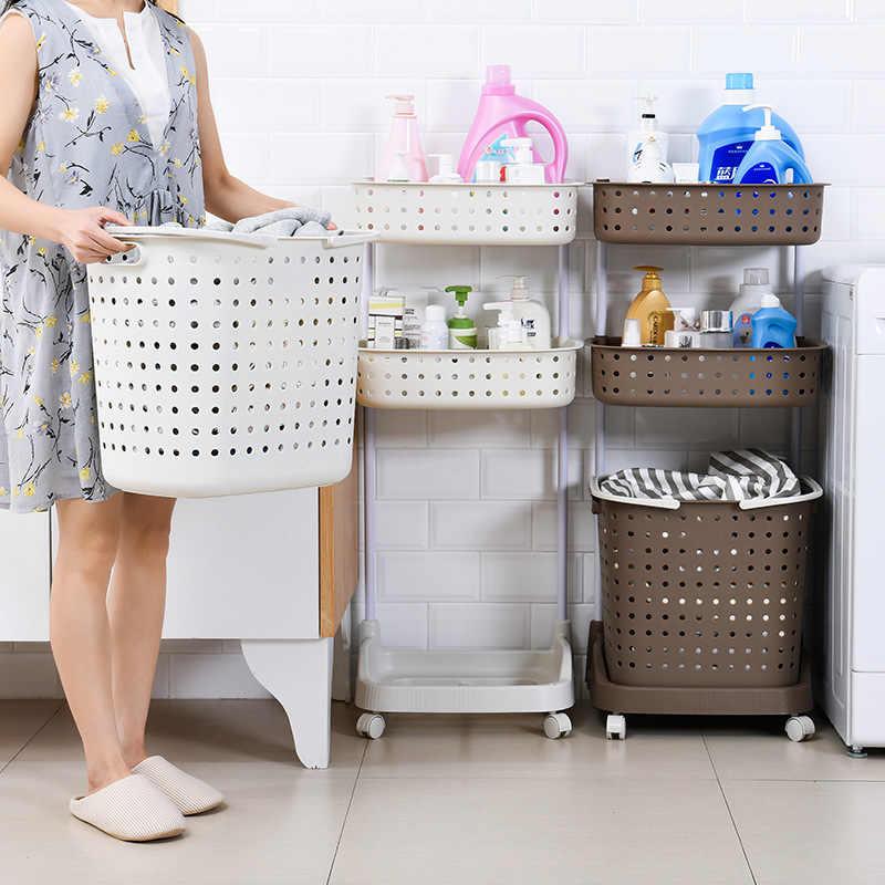 Япония большой размер корзина для белья Пластиковые Портативные игрушечные