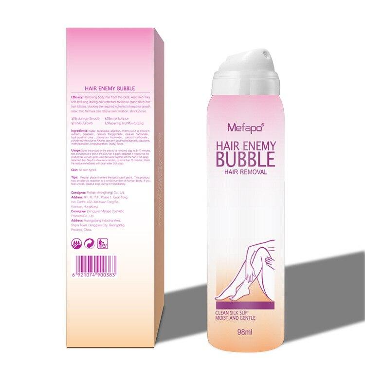 Painless Hair Removal Cream Spray Depilatory Bubble Wax Body Bikini Legs Hair Remover Foam Mousse In Spray Bottle Fast Shipping