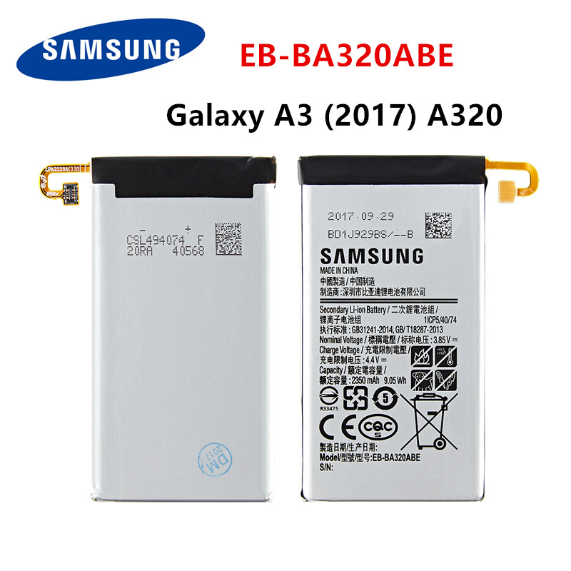 SAMSUNG Orginal EB-BA320ABE 2350mAh Battery For Samsung Galaxy A3 (2017) A320 SM-A320F A320Y A320FL A320F/DS A320Y/DS