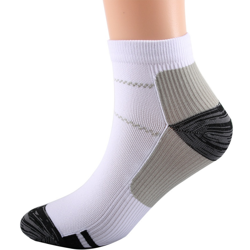 1 Pair Breathable Foot Compression Socks Plantar Fasciitis Heel Spurs Arch Pain Comfortable Socks Running Tennis Sports Sock W1