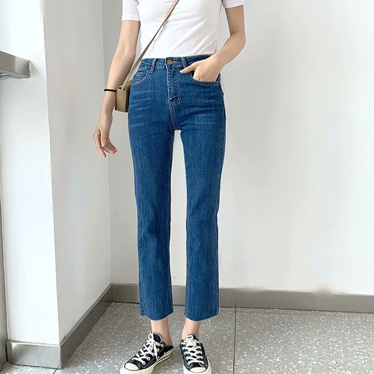 Overplus Of Goods Exported To Europe And US Women's 2-Color Slim Fit Skinny Pants 2019 Spring And Autumn New Products-Buttock Li