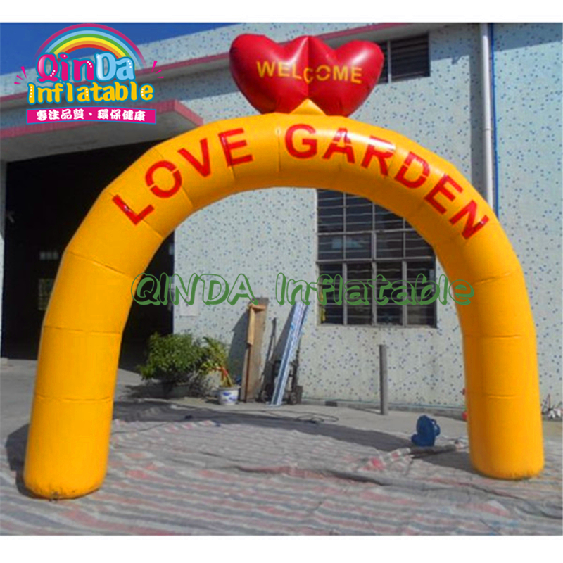 Lovely Wedding Advertising Inflatable/Crown Arch/Party Decoration Balloon Wedding Decoration Gate Flower Arch; Inflatable Entran