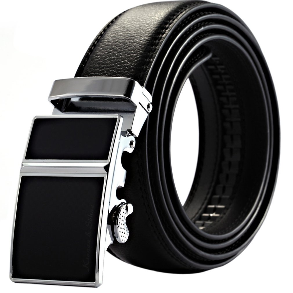 Automatic Metal Buckle Soft Leather Belts For Men Male Casual Jeans Decorative Waist Bands Best Gifts