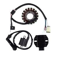 Regulador do estator retificador para yamaha raptor 660 yfm660 2001 2005 acessórios da motocicleta da bobina de ignição -