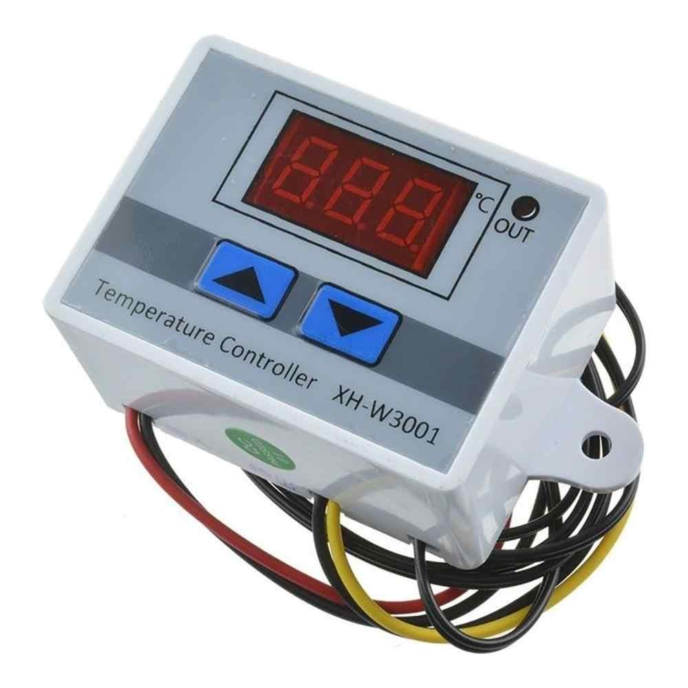 Contrôleur de température de LED numérique 10A 12V 24V 220VAC utile XH-W3001 pour incubateur de refroidissement interrupteur de chauffage Thermostat capteur NTC