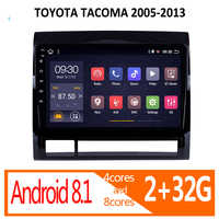 Gar radio para TOYOTA TACOMA, reproductor de audio estéreo para coche, Android 2G RAM 2005 2006 2007 2008 2009 2010 2011 2013