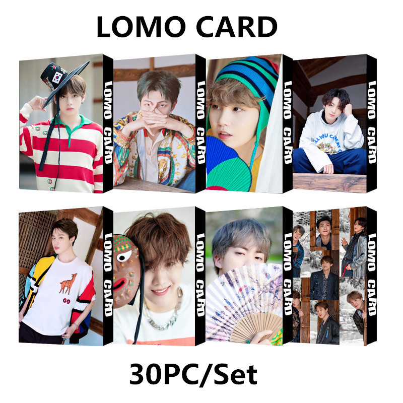Lomo Card Kpop Bangtan Boys Album SUMMER PACKAGE Self Made Paper 2019 Summer Photos Cards Poster Photocard Jungkook V Suga