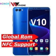 Honor v 10 4G 64G الرؤية 10 الأصلي الهاتف المحمول الثماني النواة 5.99 بوصة view10 المزدوج كاميرا خلفية بصمة ID NFC honor v 10