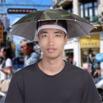 Odkryty składany parasol słoneczny kapelusz Golf wędkarstwo Camping nakrycia głowy czapka głowa kapelusz zachowaj się osłonięty tym parasolem kapelusz #10 tanie i dobre opinie ISHOWTIENDA Head umbrella Stałe Parasolka NYLON outdoor product