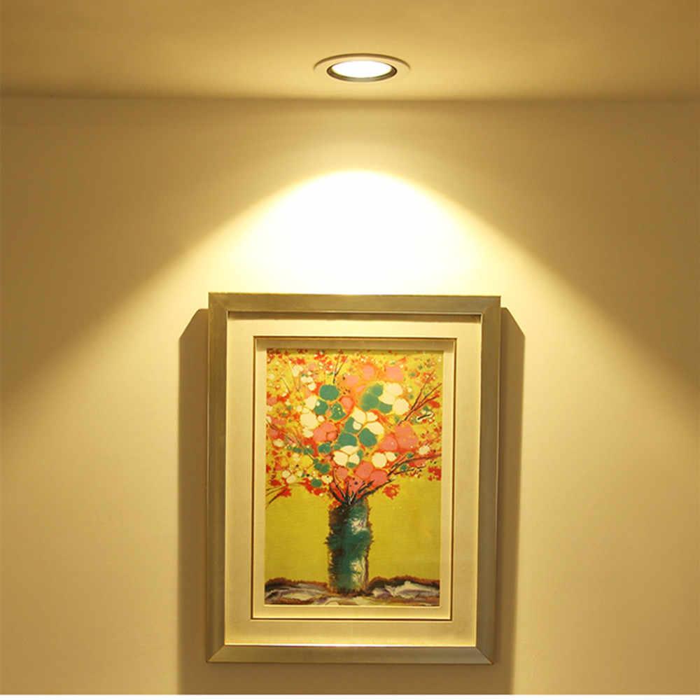 Gömme Led Downlight Ultra ince gümüş beyaz altın Led tavan lambası 3W 5W 9W LED Spot işık aydınlatma oturma odası yatak odası için