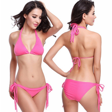 Bikini Set Swimwear Women Swimsuit Low Waist Bathing Suit Push Up Sexy Brazilian Bikinis Halter Beachwear Biquini Swim Wear цена 2017